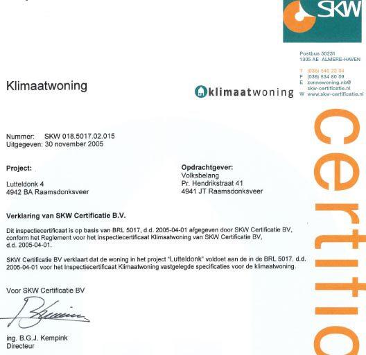 Klimaatwoningen project Lutteldonk/Molenweer