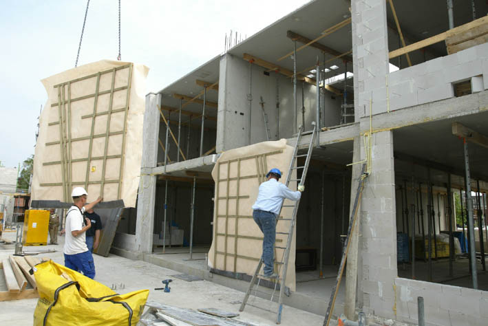 Houtconstructie-elementen 76 appartementen St. Annastraat