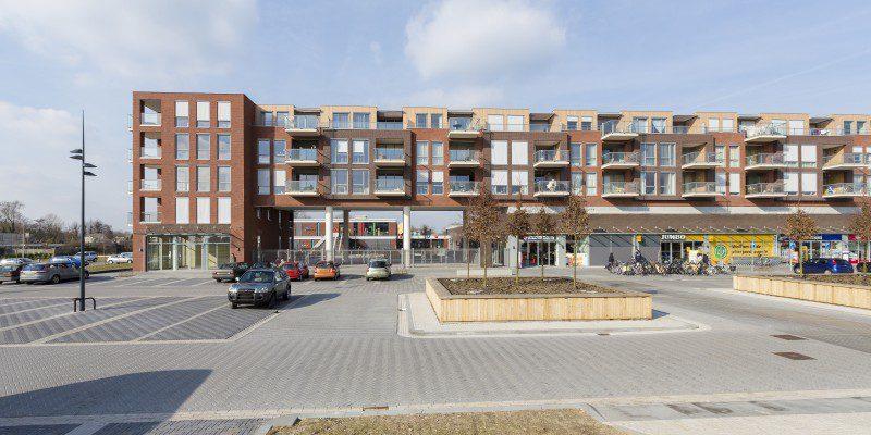 Appartementen, winkels en parkeerdek Centrumplan 'Portage'