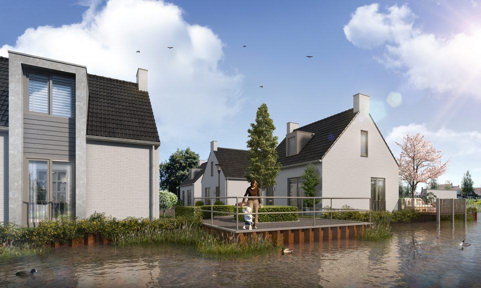6 vrijstaande patiowoningen Rietland